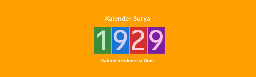 Banner Surya 1929
