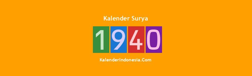Banner Surya 1940