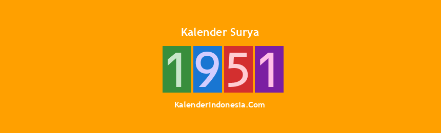 Banner Surya 1951