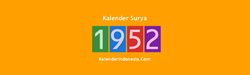 Banner Surya 1952