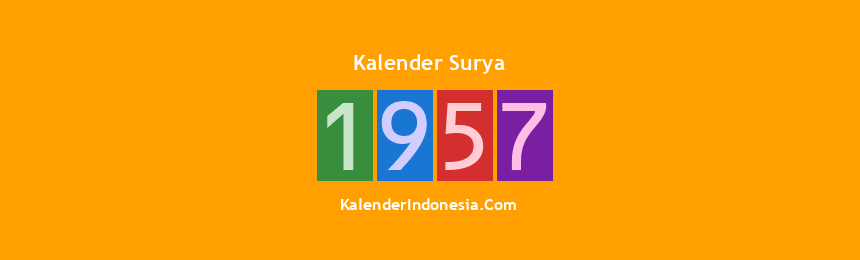 Banner Surya 1957