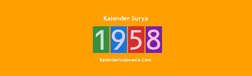 Banner Surya 1958