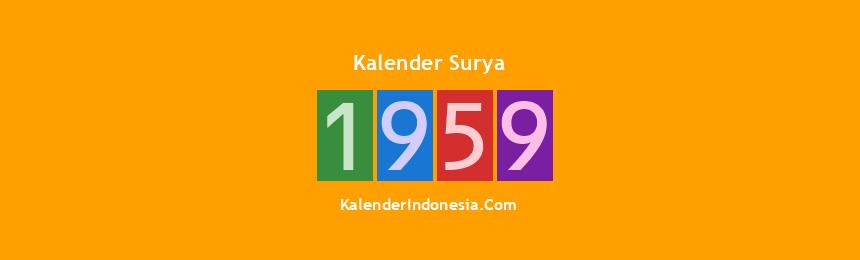 Banner Surya 1959