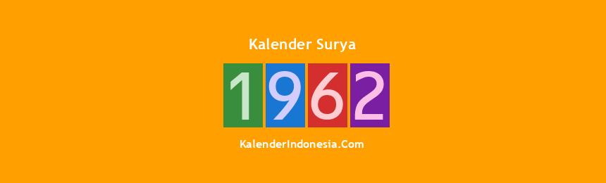 Banner Surya 1962