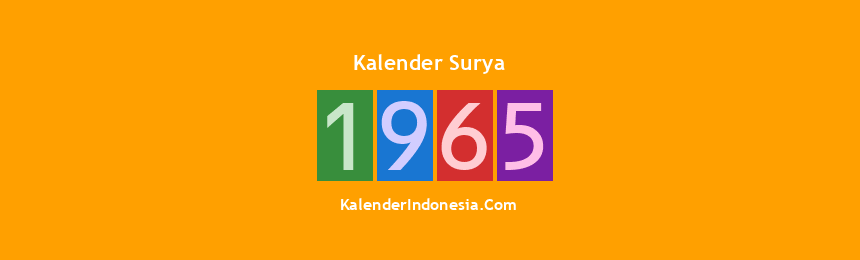 Banner Surya 1965