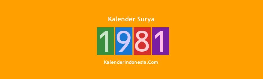 Banner Surya 1981