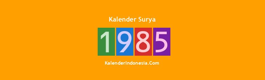Banner Surya 1985