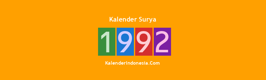 Banner Surya 1992