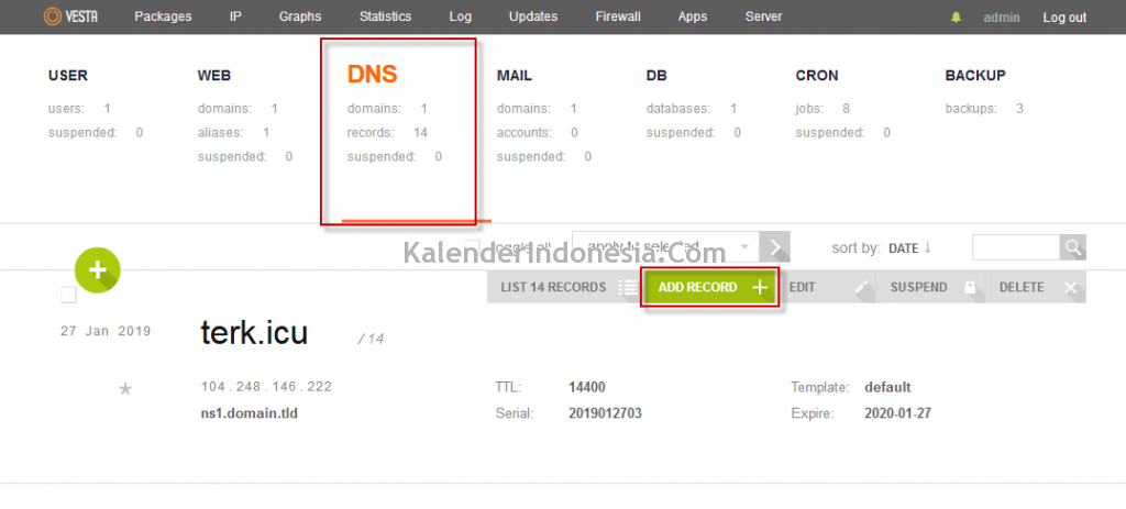 Menambah Record DNS