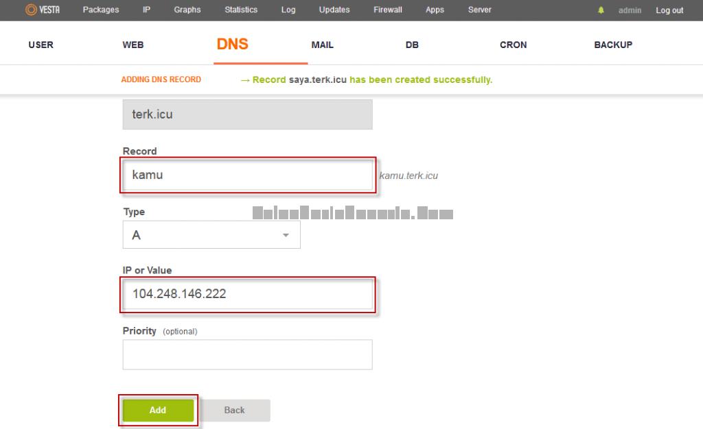 Menambah Name Server 2
