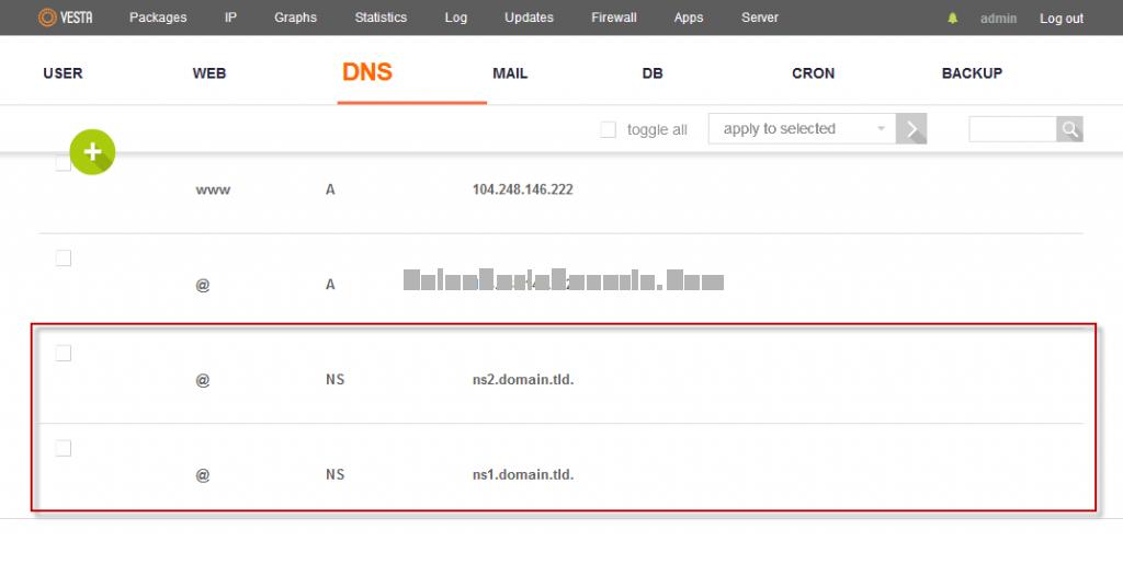 Mengubah DNS Record ke satu