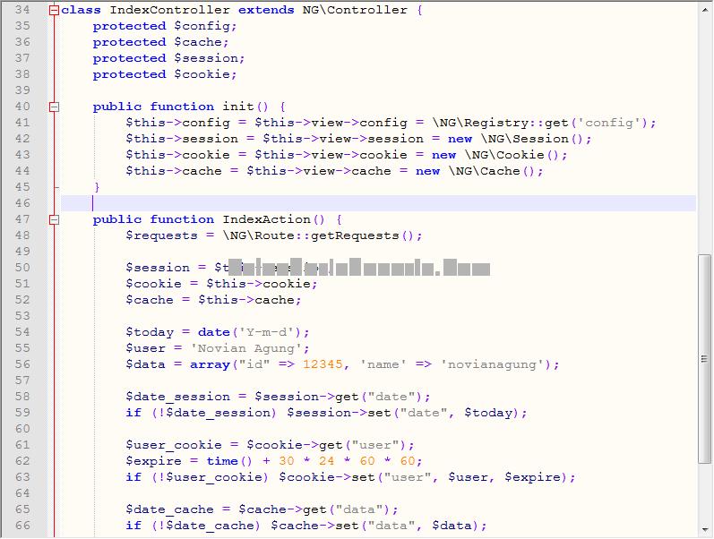 Kode Sumber IndexController.php